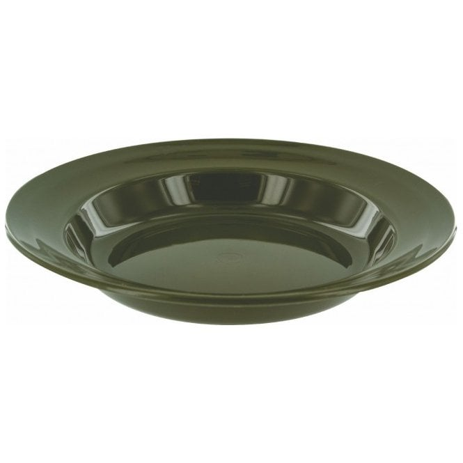 Highlander Outdoor 22cm Deep Lightweight Plastic Plate Olive
