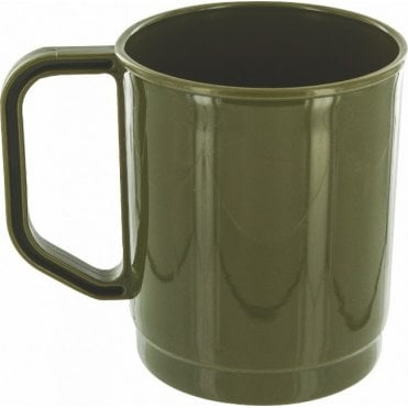 275ml Lightweight Plastic Mug - Olive Green