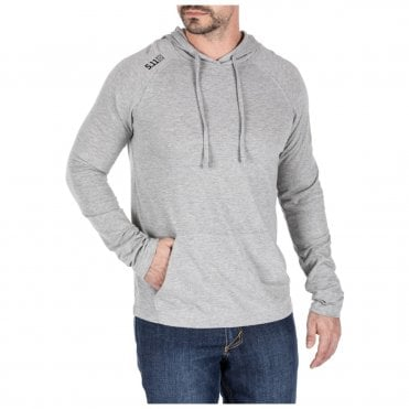 5.11 Tactical Cruiser Performance Long Sleeved Hoodie - Grey Heather