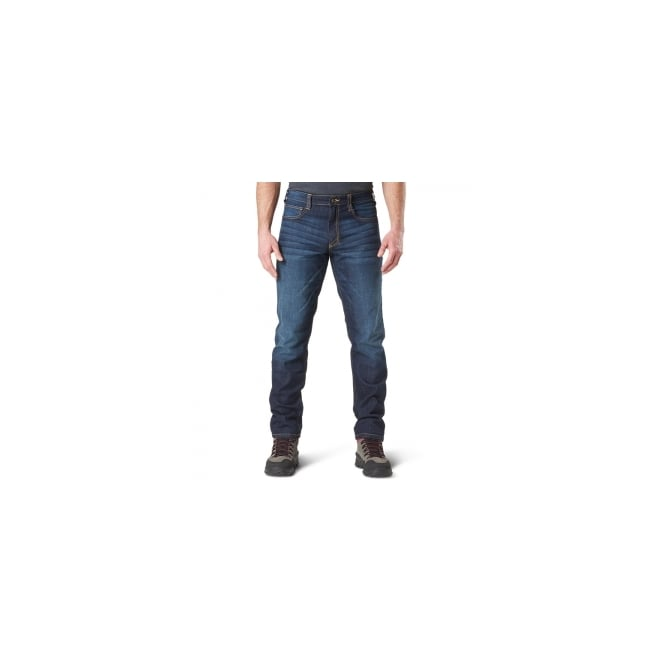 "5.11 Tactical Defender-Flex Jean Long Leg (34"") - Dark Wash Indigo"