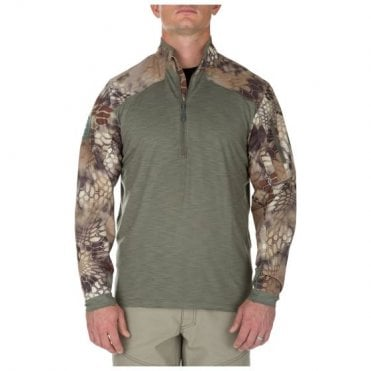 5.11 Tactical Kryptek Highlander/Green Rapid Half Zip Combat Shirt