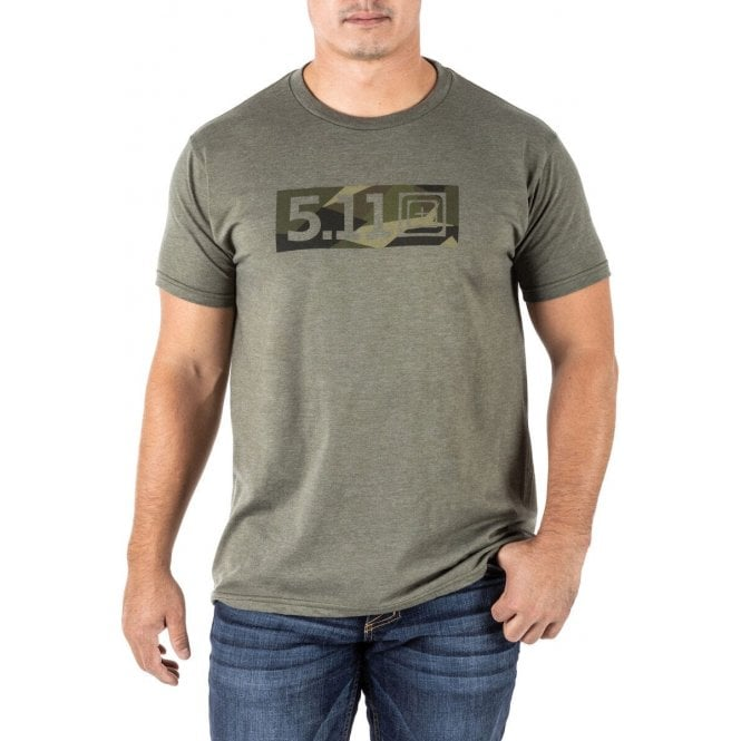 5.11 Tactical Legacy Razzle Dazzle Tee - Military Green Heather