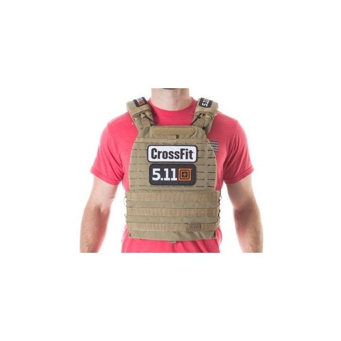 5.11 Tactical Logo Crossfit TacTec Plate Carrier - Sandstone