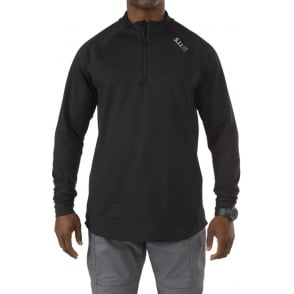 5.11 Tactical Sub-Z Quarter Zip Training Shirt Black