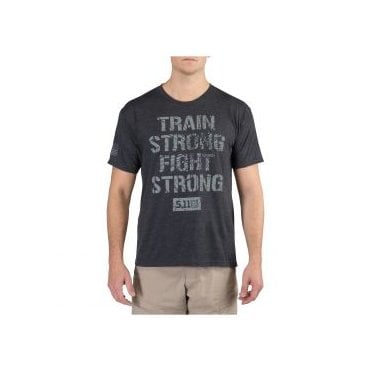 5.11 Tactical Train Strong T-Shirt - Charcoal Heather