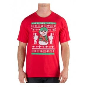 5.11 Tactical Ugly Christmas T-Shirt - Red