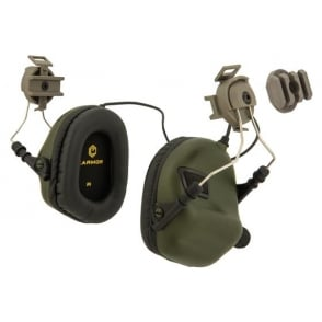 Earmor Hearing Protection Ear-Muff Helmet Version - Foliage Green