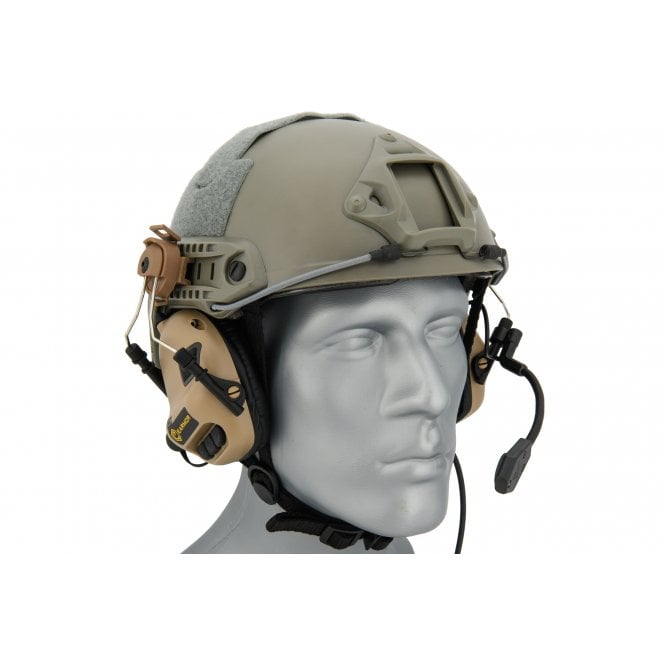 Earmor M31H MOD3 Electronic Communication Hearing Protector for FAST Style Helmets - Tan