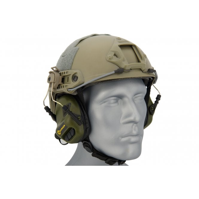 Earmor M31H MOD3 Electronic Hearing Protector for FAST Style Helmets - Green
