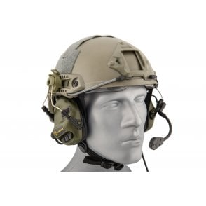 Earmor M32H MOD3 Electronic Communication Hearing Protector for FAST Style Helmets - Green