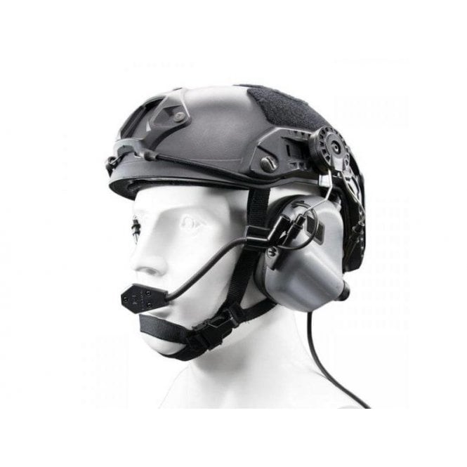 Earmor M32H MOD3 Electronic Communication Hearing Protector for FAST Style Helmets - Grey