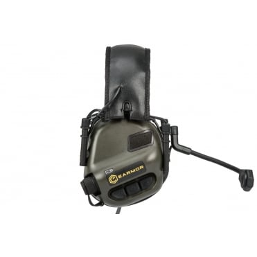 Earmor Tactical Hearing Protection Ear-Muff with Mic Boom - Foliage Green