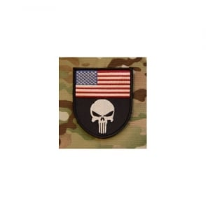 Embroidered USA Punisher Patch