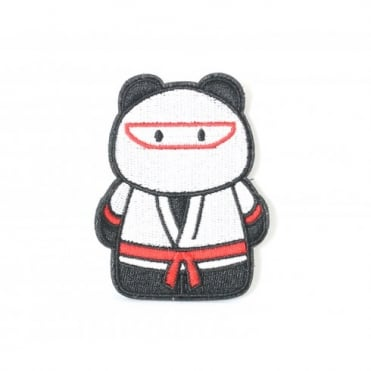 Epik Panda Ninja Patch - White / Red