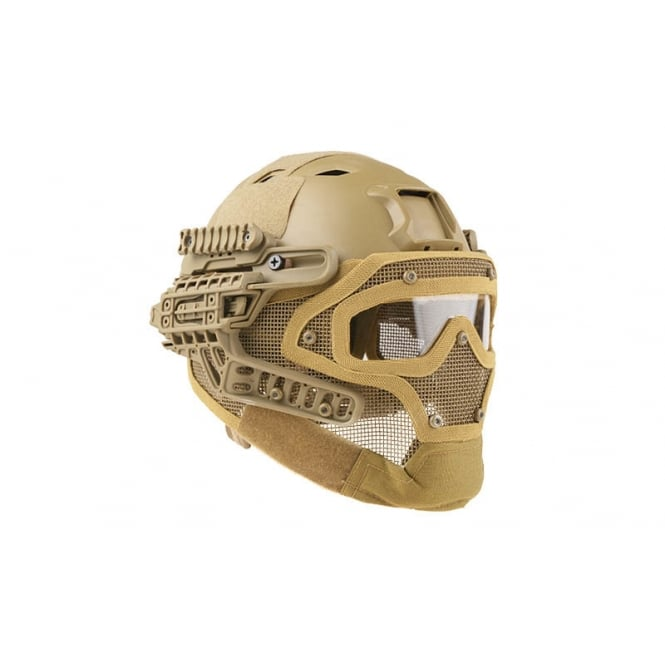 Fast Helmet with Strike Wire Mask Set - Tan