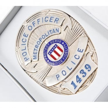 Police Badge with gift Box