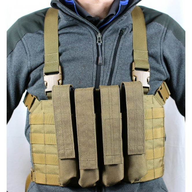 Head On Tactical 4 Mag Vector Chest Rig - Coyote