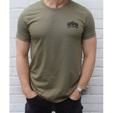 Heavy Machine Gun Clothing HMG Originals Slim Fit T-Shirt - Khaki