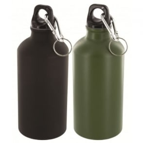 Highlander Outdoor 500ml Aluminium Bottle Black