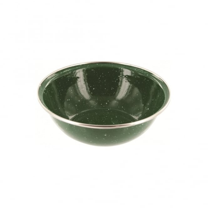 Highlander Outdoor Deluxe Enamel Bowl Green
