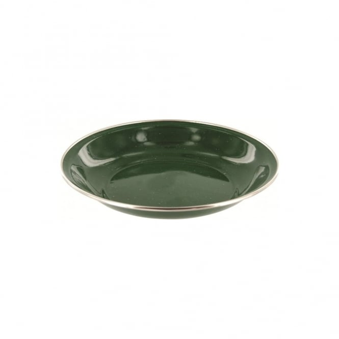 Highlander Outdoor Deluxe Enamel Soup Plate Green