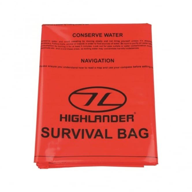 Highlander Outdoor Emergency Survival Bag Orange