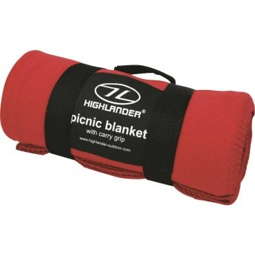 Highlander Outdoor Fleece Blanket - Red
