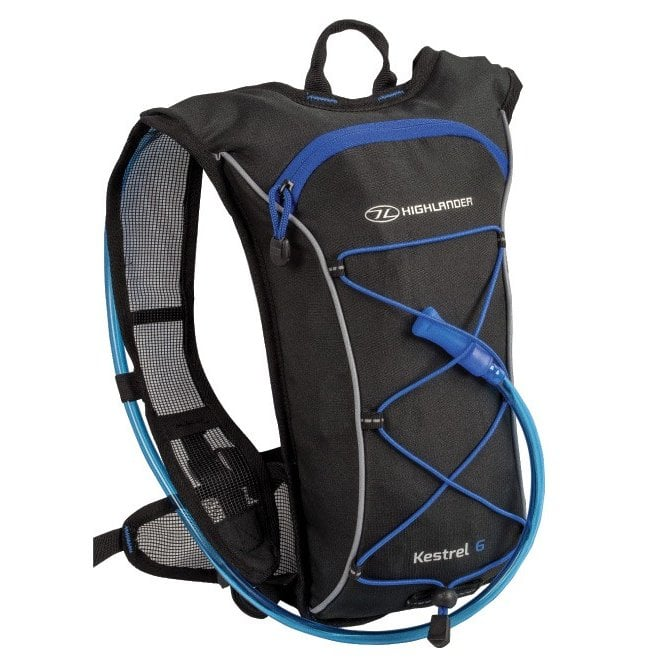Highlander Outdoor Kestrel 6 Hydration Pack - Black/Blue