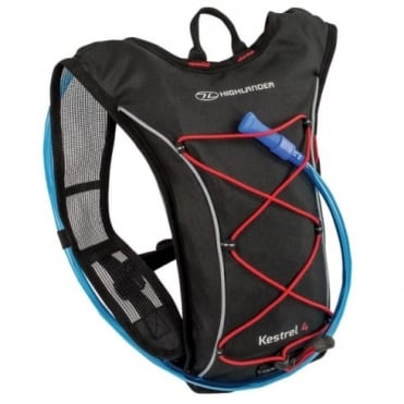 Highlander Outdoor Kestrel 6 Hydration Pack Black/Red