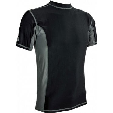 Highlander Outdoor Pro Comp Mens Short Sleeve Top - Black/Grey