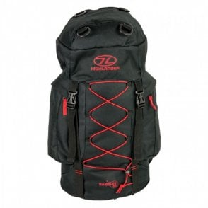 Highlander Outdoor Rambler 33 Rucksack - Black/Red