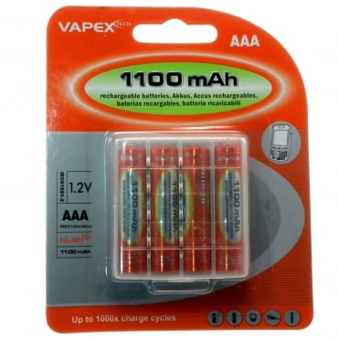 Rechargeable Ni-MH AAA Battery 4 Pack 1100mAh