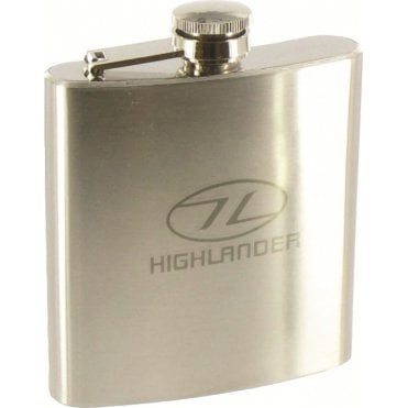 Highlander Outdoor Steel Hip Flask - 170ml