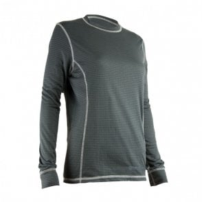 Highlander Outdoor Thermo 160 Womens Long Sleeve Top - Dark Grey