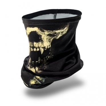 Laylax Slim Fit Cool Neck Gaiter - Skull Face