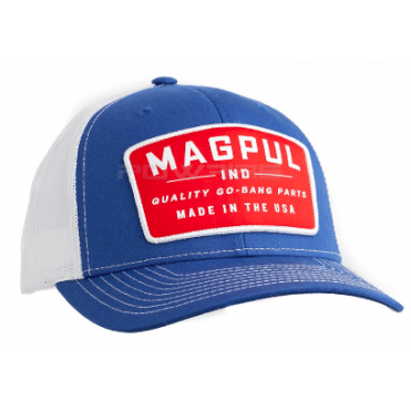 Magpul Go Bang Trucker Cap - Royal Blue / White