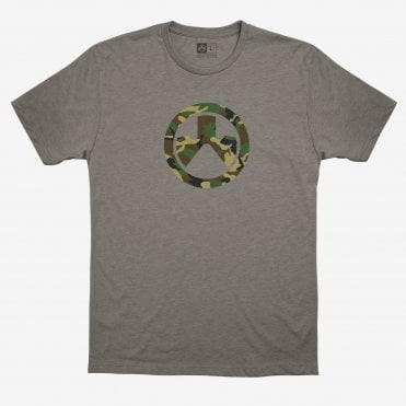 Magpul Woodland Camo Icon T-Shirt - Stone Grey