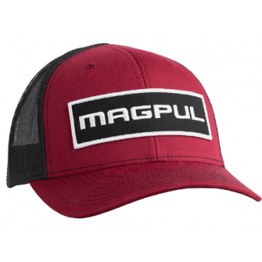 Magpul Wordmark Patch Trucker Cap - Cardinal / Black