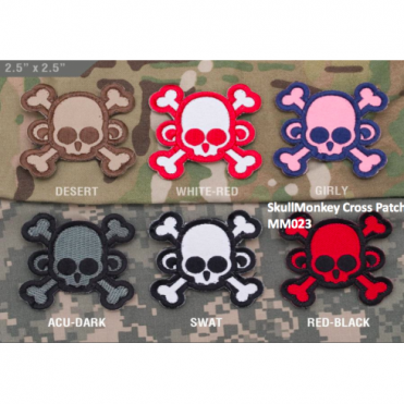 MSM SkullMonkey Cross Patch - Desert