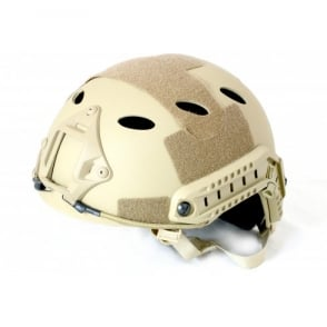 Nuprol Fast Railed Helmet - Tan
