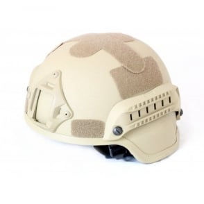 Nuprol MICH 2000 Railed Helmet - Tan