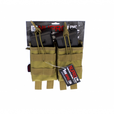 PMC G36 Double Open Mag Pouch - Tan