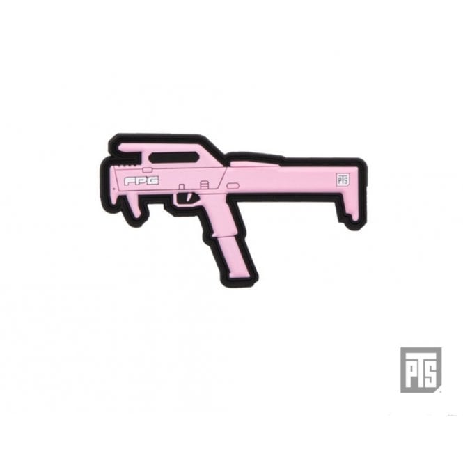 "PTS Syndicate Airsoft PTS Syndicate 2.8"" FPG PVC Patch Pink"