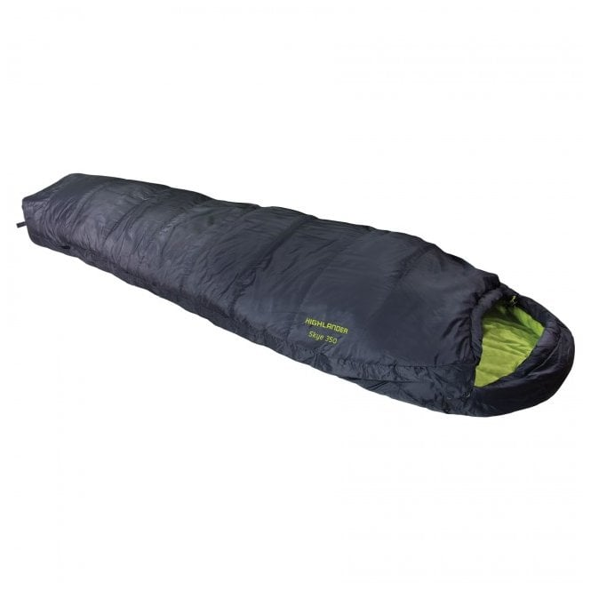 Highlander Outdoor Skye 350 Mummy Sleeping Bag - Charcoal