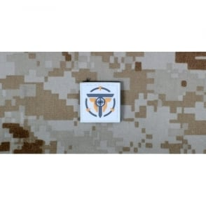 Tactical Clothing Small Patch - White