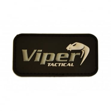 Viper Subdued Rubber Logo Patch - Black