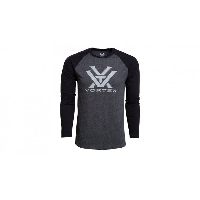 Vortex Optics Raglan Core Logo Long sleeved T-Shirt - Charcoal Heather