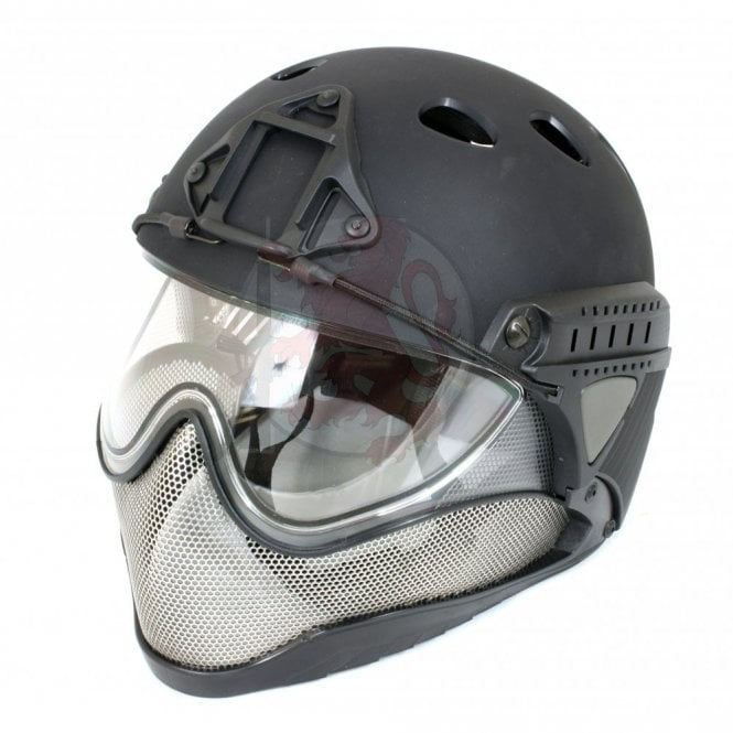 WARQ Advanced Full Face/Head Helmet Protection System - Black