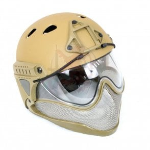WARQ Advanced Full Face/Head Helmet Protection System - Tan