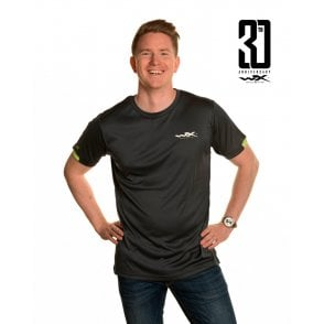 Wiley X Active T-Shirt Charcoal with Flash Green